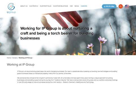 Screenshot of Jobs Page ipgroupplc.com - Working at IP Group � IP Group plc - captured Dec. 21, 2015