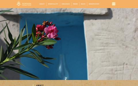 Screenshot of About Page sewara.com - Sewara | About - captured Sept. 25, 2014
