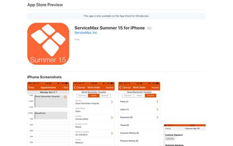 ServiceMax Summer 15 for iPhone on the AppStore