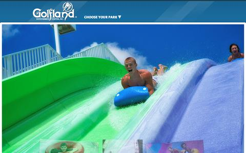 Screenshot of Home Page golfland.com - Golfland | Thrilling Waterparks and Family Fun in California and Arizona! - captured June 29, 2017
