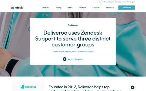 Screenshot of Support Page zendesk.com - Deliveroo Customer Service Story   Zendesk - captured Aug. 4, 2018