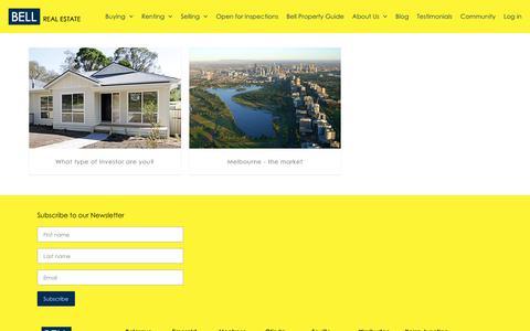 Screenshot of Blog bellrealestate.com.au - Bell Real Estate - captured April 12, 2017