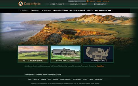 Screenshot of Home Page kempersports.com - Golf Course Management Company | Hospitality Management Company | KemperSports - captured Sept. 22, 2014