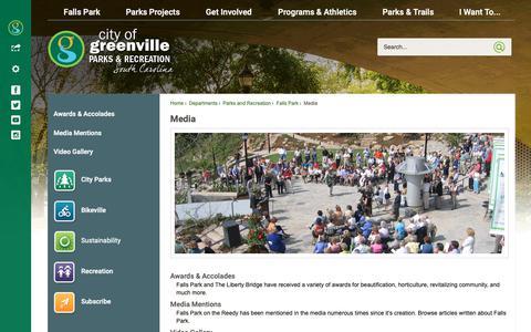 Screenshot of Press Page greenvillesc.gov - Media | Greenville, SC - Official Website - captured Dec. 4, 2018