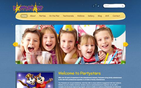 Screenshot of Home Page ave-partystars.co.uk - Partystars - captured Sept. 10, 2015