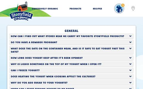 Frequently Asked Questions | FAQs | Stonyfield