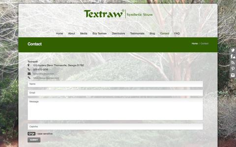 Screenshot of Contact Page textraw.com - Contact   Textraw - captured Oct. 26, 2014