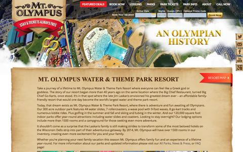 Screenshot of About Page mtolympuspark.com - ABOUT - captured Oct. 26, 2014
