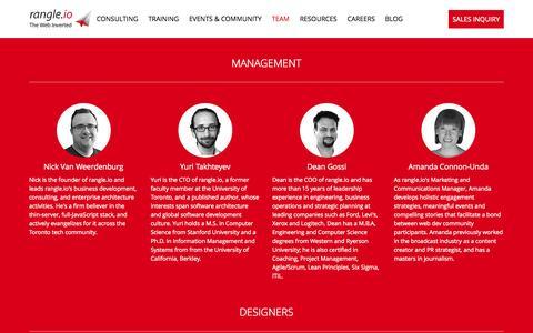 Screenshot of Team Page rangle.io - rangle.io - The Web Inverted - captured Sept. 19, 2014