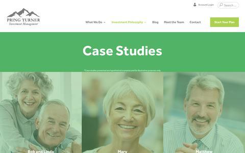 Screenshot of Case Studies Page pringturner.com - Case Studies - captured Sept. 25, 2018