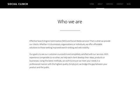 Screenshot of About Page socialclinch.com - Who we are - Social Clinch - captured Jan. 12, 2016