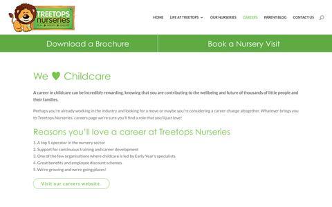 Screenshot of Jobs Page treetopsnurseries.co.uk - Careers | Treetops Nurseries - captured Dec. 15, 2016