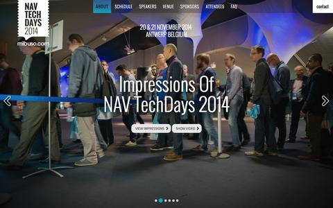Screenshot of Home Page navtechdays.com - NAV TechDays 2014 | When You Are Passionate About Microsoft Dynamics NAV - captured Jan. 30, 2015