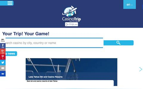 Screenshot of Home Page casinotrip.co - CasinoTrip - Your Trip! Your Game! - captured Dec. 4, 2015