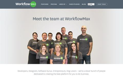 Screenshot of Team Page workflowmax.com - The Team at WorkflowMax - captured Oct. 26, 2014