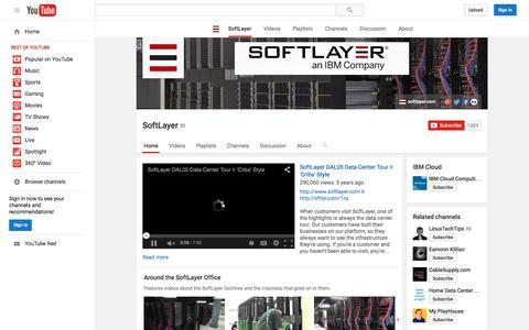 Screenshot of YouTube Page youtube.com - SoftLayer  - YouTube - captured Nov. 23, 2015