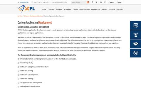 Screenshot of Services Page stpl.biz - Custom Application Development | Custom Mobile Application Development - captured Dec. 15, 2015