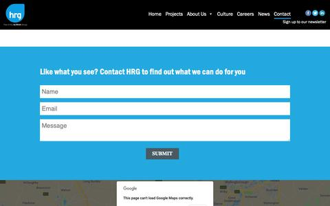 Screenshot of Contact Page hrg.co.uk - Contact Us - captured Sept. 26, 2018