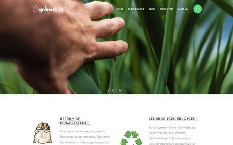 Screenshot of Home Page virgil.dk - Home - GrÅnne Virgil - captured Nov. 16, 2018