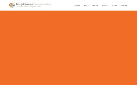 Screenshot of Home Page steegethomson.com - SteegeThomson Communications - captured Jan. 12, 2016