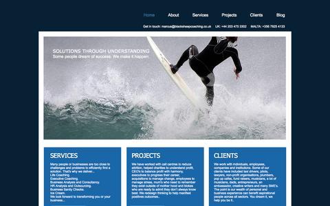 Screenshot of Home Page blacksheepcoaching.co.uk - Coaching In Malta & London - captured Sept. 30, 2014