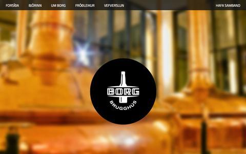 Screenshot of Home Page borgbrugghus.is - Borg Brugghús - Borg Brugghús - captured June 22, 2015