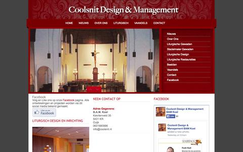 Screenshot of Home Page coolsnit.nl - Coolsnit Liturgisch design en management - captured Oct. 3, 2014