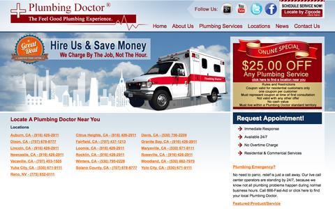 Screenshot of Locations Page plumbingdoctor.com - Locate a Plumbing Doctor near you - Plumbing Doctor - captured Oct. 26, 2014