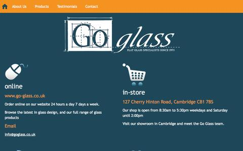 Screenshot of Contact Page go-glass.co.uk - Contact Go Glass for more information - captured Sept. 30, 2014