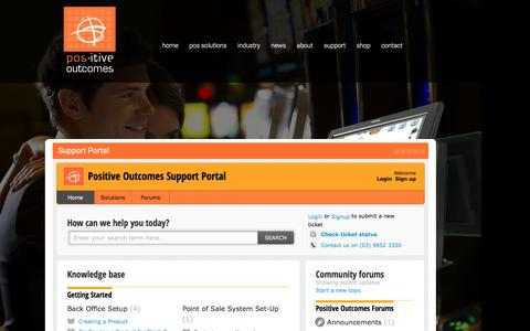 Screenshot of Support Page positive-outcomes.com.au - Positive Outcomes Support Portal - captured July 14, 2016