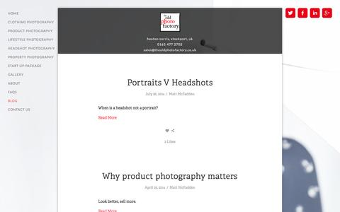 Screenshot of Blog theoldphotofactory.co.uk - Blog — The Old Photo Factory - captured Oct. 9, 2014