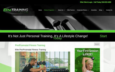 Elite Training Tulsa | Tulsa Pre/Postnatal Fitness Training | Elite Training
