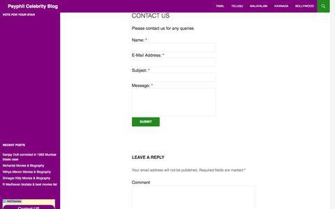 Screenshot of Contact Page psyphil.com - Contact us | Psyphil Celebrity Blog - captured Dec. 23, 2016