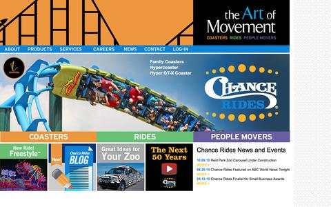 Screenshot of Home Page chancerides.com - CHANCE RIDES - Amusement Rides | Amusement Ride Manufacturer - captured Dec. 8, 2015