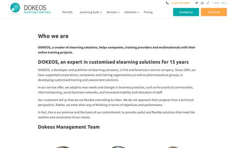 DOKEOS is an expert in customised elearning solutions for 15 years