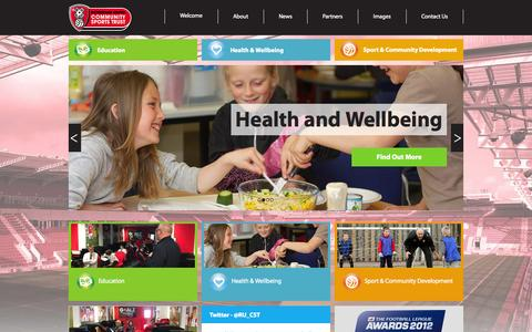 Screenshot of Home Page rucst.co.uk - Welcome | Rotherham United Community Sport Trust - captured Jan. 29, 2015