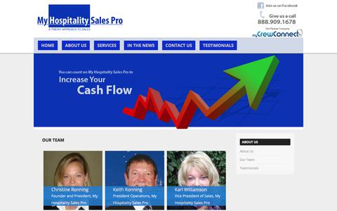 Screenshot of Team Page myhospitalitysalespro.com - Our Team   - captured Nov. 2, 2017
