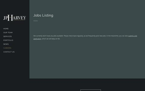 Screenshot of Jobs Page jphes.com - JP Harvey Engineering Solutions |   Jobs Listing - captured Feb. 4, 2016