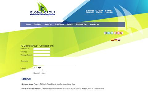 Screenshot of Contact Page icglobalgroup.com - Contact us - captured Sept. 30, 2014
