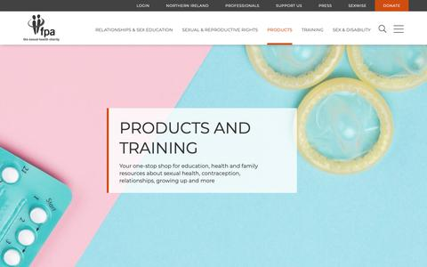 Screenshot of Products Page fpa.org.uk - Products and training   FPA - captured Nov. 14, 2018