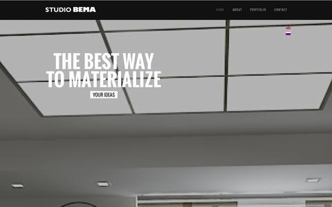 Screenshot of Home Page bemastudio.com - Bema Studio - captured Sept. 30, 2014