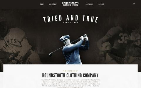 Screenshot of About Page houndstooth.com - Houndstooth Clothing Company    <!-- About Us – Houndstooth CC --> - captured Feb. 1, 2016