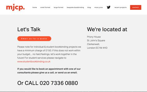 Screenshot of Contact Page mjgroup.co.uk - Contact  London Clerkenwell mjcp. - captured July 6, 2017