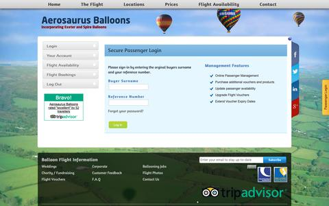 Screenshot of Login Page ballooning.co.uk - Balloon Flight Login - captured Oct. 3, 2018