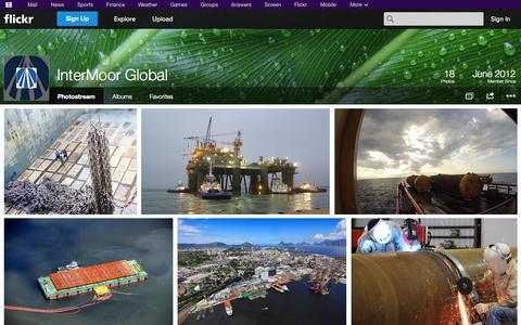 Screenshot of Flickr Page flickr.com - Flickr: InterMoor Global's Photostream - captured Oct. 23, 2014