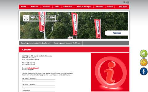 Screenshot of Contact Page wijlen.nl - Contact » Van Wijlen All-round Installatiebureau - captured Oct. 27, 2014