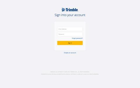 Screenshot of Login Page trimble.com - Trimble Inc. Central Authentication Service - captured Sept. 22, 2019