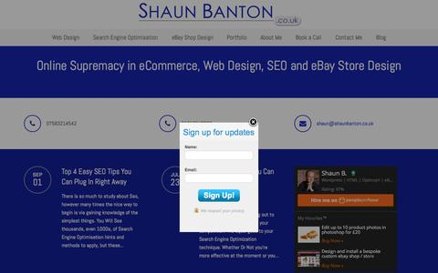 Screenshot of Home Page shaunbanton.co.uk - eBay Shop Design | Website Design | eCommerce Website Design - captured Sept. 24, 2015