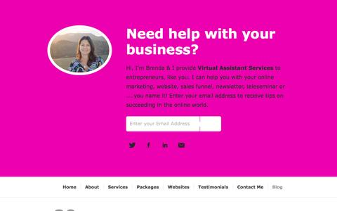 Screenshot of Blog myvarocks.com - My VA Rocks! — Virtual Assistant Services for Entrepreneurs - captured Nov. 5, 2014