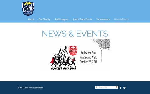 Screenshot of Press Page dta.org - dallastennis | News & Events - captured Oct. 12, 2017